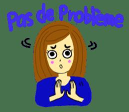 Lea French girl sticker #5261069