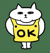 Vacant cat sticker #5264122