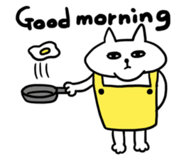 Vacant cat sticker #5264124