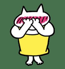 Vacant cat sticker #5264131