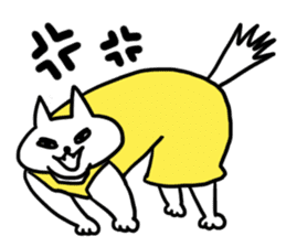 Vacant cat sticker #5264135