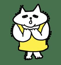 Vacant cat sticker #5264140