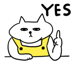 Vacant cat sticker #5264142