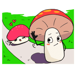 happy mushrooms real color version sticker #5264548