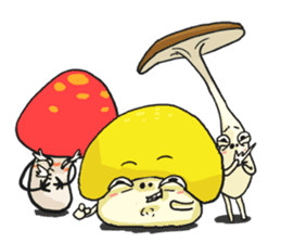 happy mushrooms real color version sticker #5264553