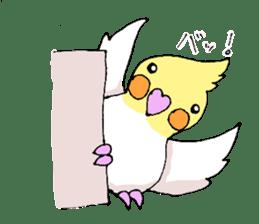 shiro parakeet sticker #5265163