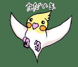 shiro parakeet sticker #5265170
