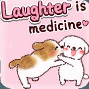 สติ๊กเกอร์ไลน์ Laugh and boost your immunity (dogs)