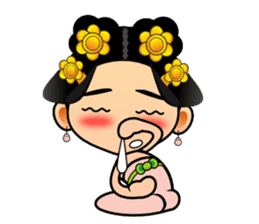Cute Chinese female emperor sticker #5268383