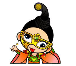 Cute Chinese female emperor sticker #5268386