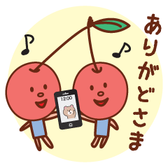 fruit stickers of touhoku dialect