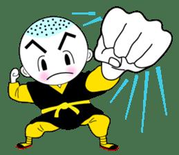 Kung fu boy priest Leelin and his Master sticker #5280999