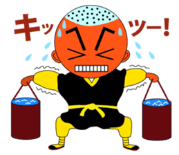 Kung fu boy priest Leelin and his Master sticker #5281009