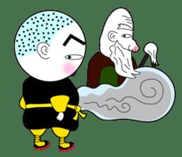 Kung fu boy priest Leelin and his Master sticker #5281031