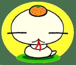A white snake and golden snake sticker #5281418