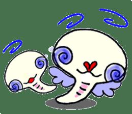 A white snake and golden snake sticker #5281419