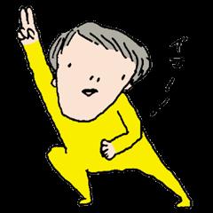 Yellow tights guy.