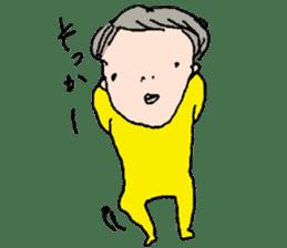 Yellow tights guy. sticker #5283438