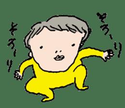 Yellow tights guy. sticker #5283444