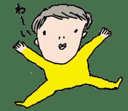 Yellow tights guy. sticker #5283447