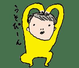 Yellow tights guy. sticker #5283458
