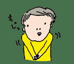 Yellow tights guy. sticker #5283462