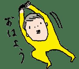 Yellow tights guy. sticker #5283471