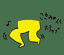 Yellow tights guy. sticker #5283474