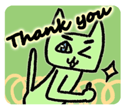 Eyebrows cat say thank you & I'm sorry sticker #5286206