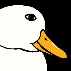 Mr. duck sticker