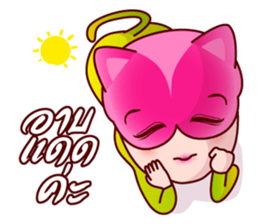 Chompoo Rose Apple Meow, the charmed cat sticker #5295518
