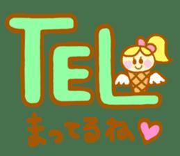 A kawaii Ice-Angel sticker #5297874
