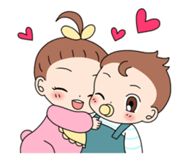 Baby Couple sticker #5298444