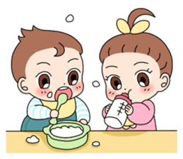 Baby Couple sticker #5298458