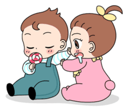 Baby Couple sticker #5298469