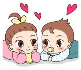 Baby Couple sticker #5298473