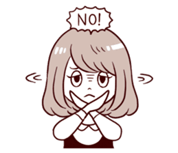 Daily life reaction of the girl sticker #5309917