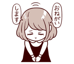 Daily life reaction of the girl sticker #5309925