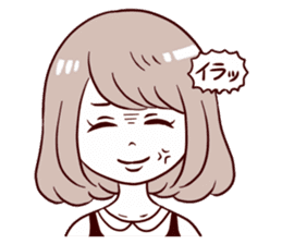 Daily life reaction of the girl sticker #5309935
