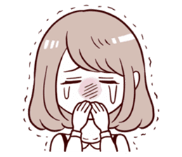 Daily life reaction of the girl sticker #5309945