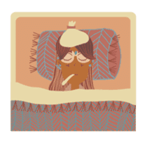 Ms. Sunburn sticker #5311431