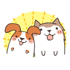 Beagle and Husky
