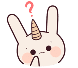 Little unicorn bunny sticker #5325172