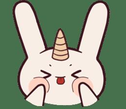 Little unicorn bunny sticker #5325173