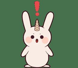 Little unicorn bunny sticker #5325175
