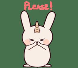 Little unicorn bunny sticker #5325176