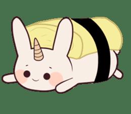 Little unicorn bunny sticker #5325177