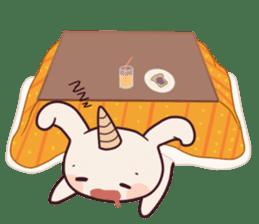 Little unicorn bunny sticker #5325180