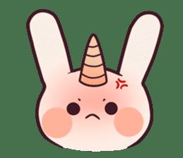 Little unicorn bunny sticker #5325181