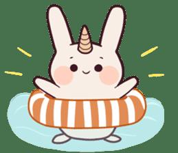 Little unicorn bunny sticker #5325182